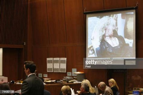On september 27, 2004, phil spector was indicted for her murder. Evidence photo of actress Lana Clarkson is displayed ...