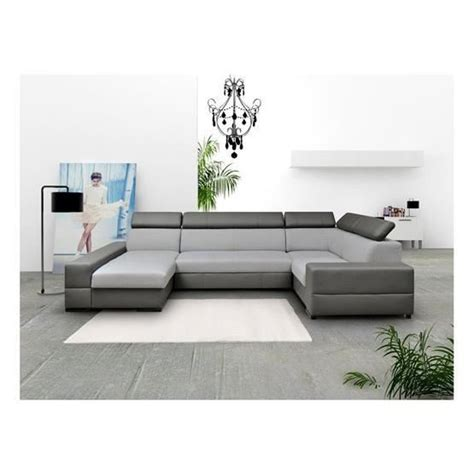 Canapé D'angle Convertible Cawpa Gris Angle Gauche Achat