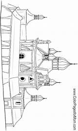 Coloring Church Buildings Pages Adult Print Colorpagesformom Church6 Coloringpages sketch template