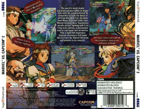 Marvel vs. Capcom 2: New Age of Heroes (USA) DC ISO ...