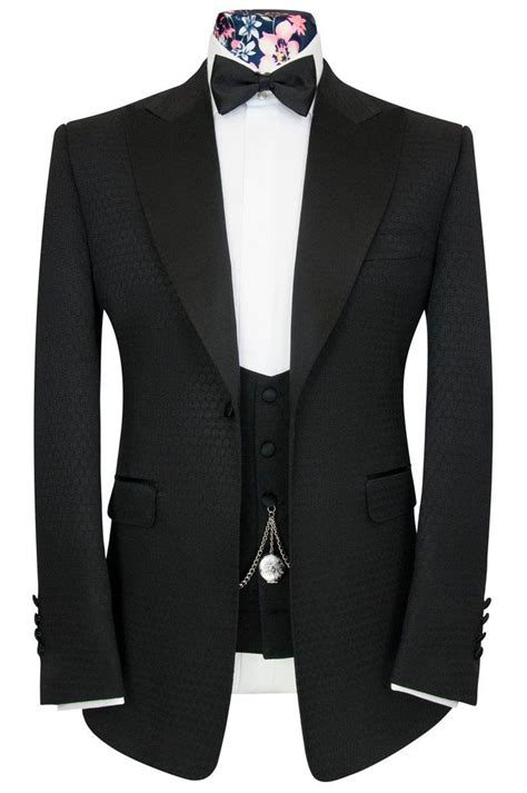 morgan black jacquard dinner suit   dinner
