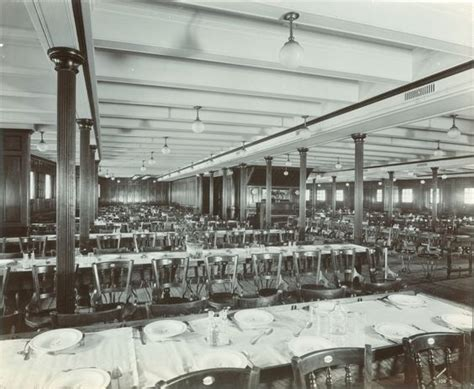 interior of the lusitania 1905 1907 third class dining