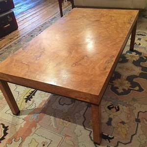 parsons style burl olive wood coffee table for sale at 1stdibs With burl wood coffee table for sale