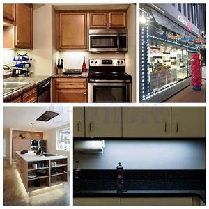 5ft white closet kitchen under cabinet counter led With kitchen colors with white cabinets with laptop camera cover stickers