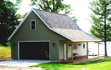 Pole Barn Garage With Apa Loft Apartment House Plan Drive