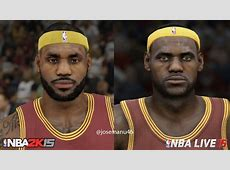 NBA 2k15 vs NBA Live 15 CLEVELAND Cavaliers Face