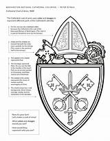 Cathedral Coloring Peter Paul Saint Arms Coat Imagery Represent Uses Church Official sketch template