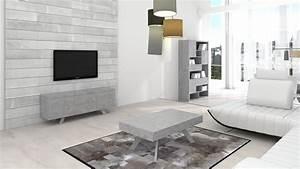 Meuble Tv Effet Beton : le blog mobiliermoss salon meuble tv bibliotheque effet beton klow mobiliermoss ~ Teatrodelosmanantiales.com Idées de Décoration