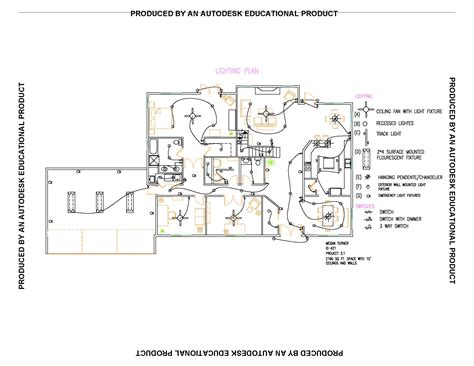 Floor Plan With Electrical Symbols by Lighting Plan Thraam Com