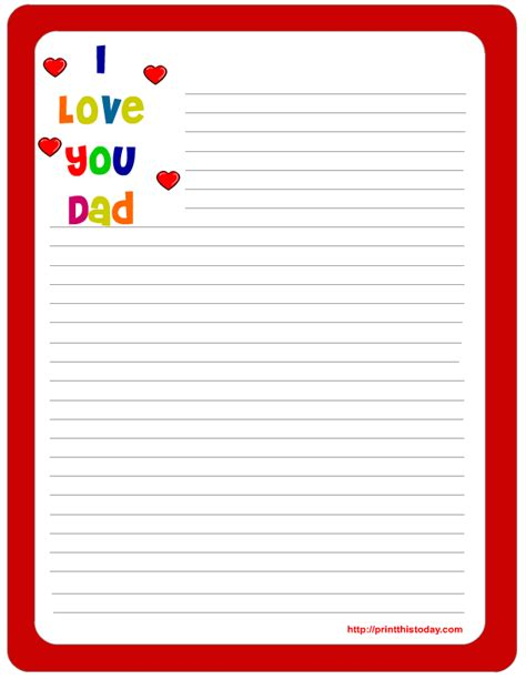 letter pad note pad stationery  printables  father