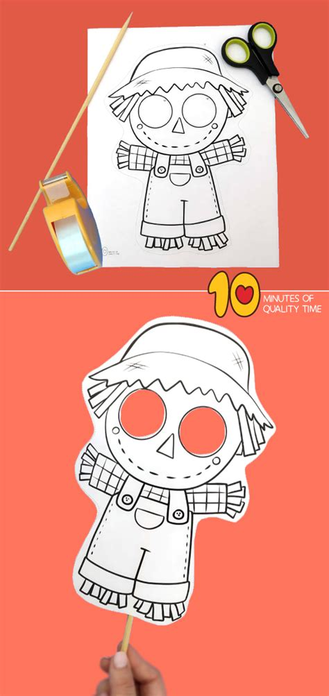 scarecrow paper mask  minutes  quality time