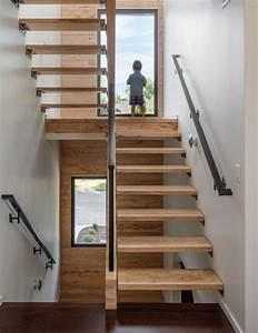 Main Courante Escalier Intérieur : escalier droit et escalier tournant en 100 designs superbes ~ Edinachiropracticcenter.com Idées de Décoration