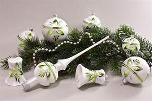 Weihnachtskugeln Aus Lauscha : eis weiss gr n baumschmuck christbaumkugeln ~ Orissabook.com Haus und Dekorationen