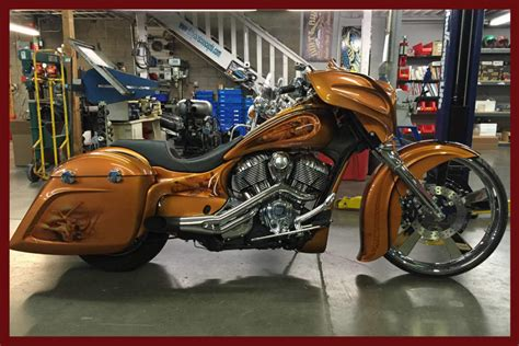 Custom Indian Motorcycle Gnarly Posse Pack