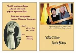 Einladung Goldene Hochzeit Christoph Schirra, IT & Design