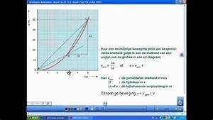 Natuurkundeles A5 12 2 3 Bewegingsgrootheden En S T
