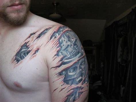 mechanical shoulder tattoo mechanical shoulder tattoo