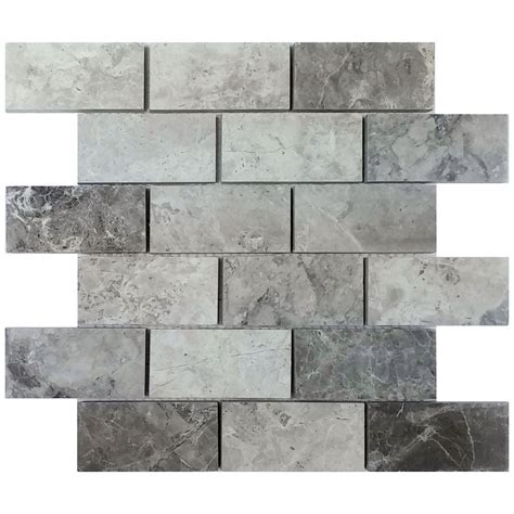 gray valensa marble subway tile  backsplash tilemarkets