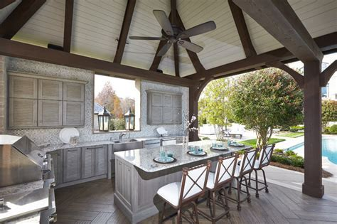 Outdoor Kitchen Pool Cabana   Traditional   Patio   Other