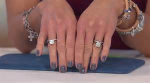 qvc wedding ring sets epiphany diamonique 100 facet 2 pc cushion bridal ring set j321142 qvc
