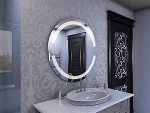 Runder Spiegel Groß : runder spiegel mit beleuchtung mit material aus ~ Whattoseeinmadrid.com Haus und Dekorationen