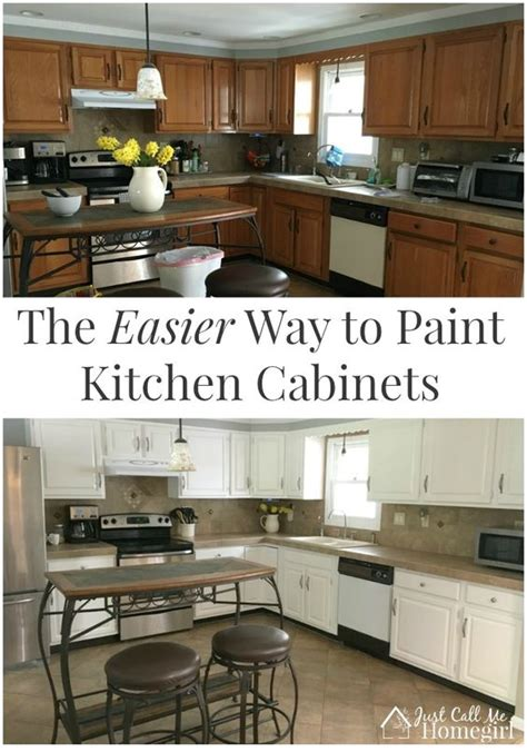 easy way to paint kitchen cabinets the easier way to paint kitchen cabinets oak cabinets 9641