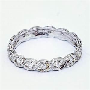 Unique Wedding Ring, 0.28 CT Vintage Wedding Band, 14K ...