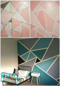 Diy, Patterned, Wall, Painting, Ideas, And, Techniques, Picture