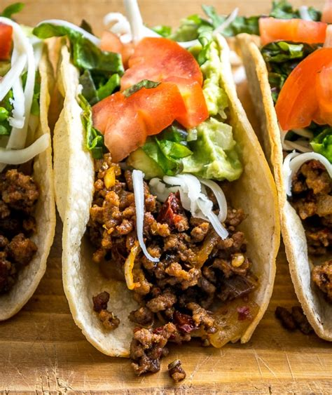 classic ground beef hardshell tacos mexican