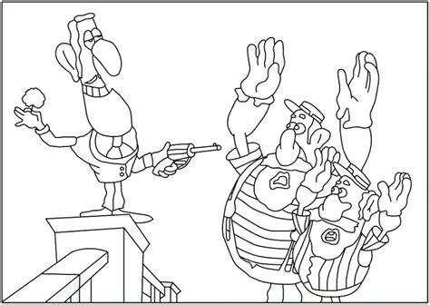malmichaus ausmalbild malvorlage detektiv