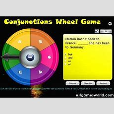 Conjunctions Wheel Game  Language  Pinterest  English, Wheels And Game