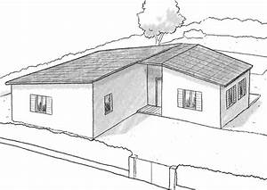 Maison Plain Pied En L : plan maison plain pied en l ooreka ~ Melissatoandfro.com Idées de Décoration