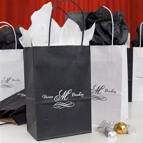 custom printed petite paper wedding gift bags