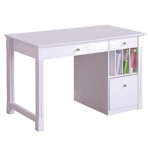 white desk with walker edison deluxe solid wood desk white by oj