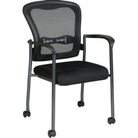 office pro line ii progrid guest chair with wheels