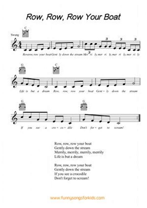 Row Your Boat On Keyboard by 17 Best Images About Songs For Children S