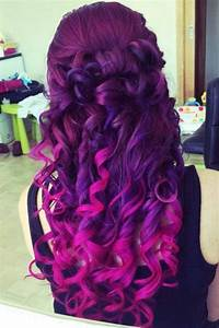 Vibrant Purple to pink ombre hair | Hair