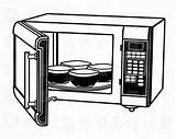Clipart Microwave Oven Kitchen Svg Webstockreview Cricut sketch template