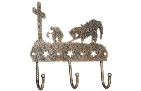 Tough 1 Home Decor : Tough-1 3 Hook Rack With Equine Motif And Glitter Finish