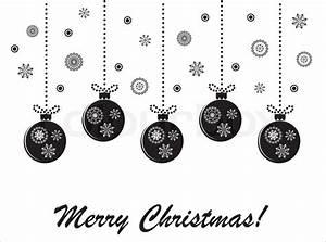 Weihnachtsmotive Schwarz Weiß : urlaub weihnachten schwarz wei vektor karte mit h ngenden kugeln vektorgrafik colourbox ~ Buech-reservation.com Haus und Dekorationen