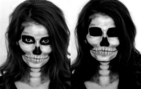 diy skeleton makeup  terrifyingly beautiful halloween trend