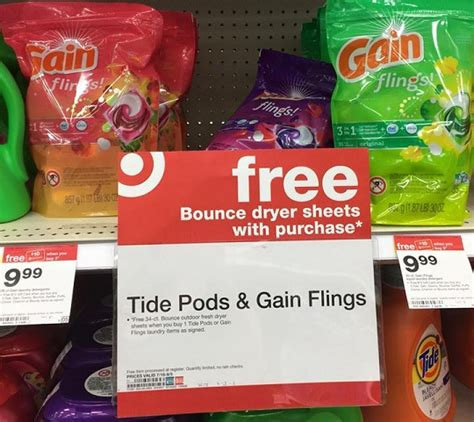 free bounce dryer sheets w purchase at target