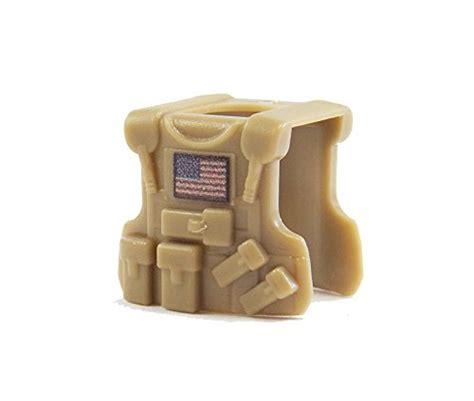 tactical vest dark tan american flag custom lego