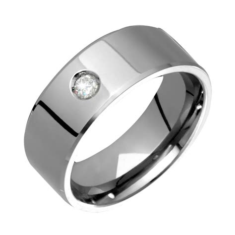 mens titanium ring solitaire wedding band engagement ring size 4 to ebay