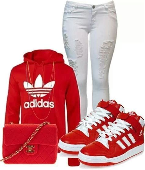 Adidas red outfit | Fantastic Fashion Design | Pinterest