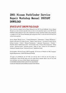 2001 Nissan Pathfinder Service Repair Workshop Manual