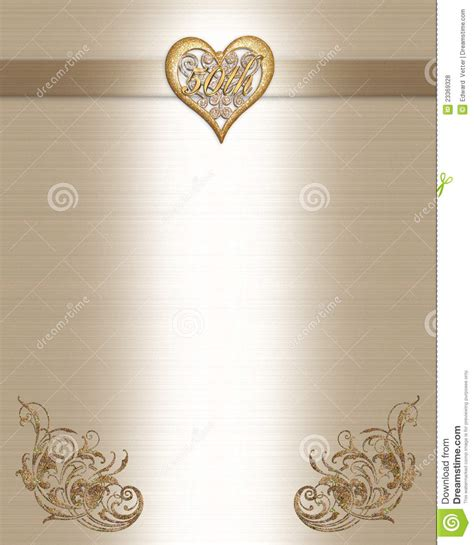 anniversary invitation gold stock illustration