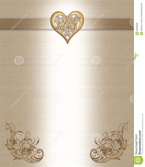 50th Anniversary Invitation Gold Royalty Free Stock Photos