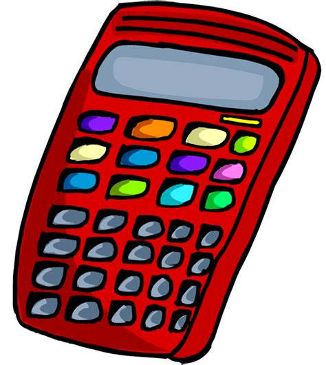 calculator clipart png brown science math and biology math every day