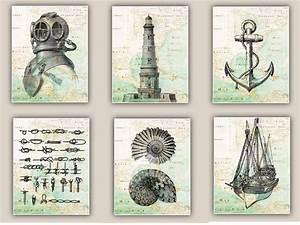 Nautical art prints antique map east coast america by